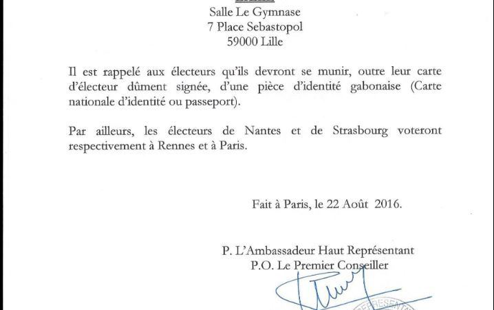 Les centres de vote en France 02 - Gabon-Présidentielle 2016 : les centres de vote en France