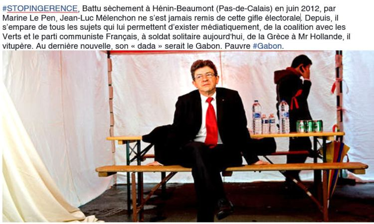stop ingérence 01 - Jean-Luc Mélenchon : le Gabon est mon nouveau « dada »