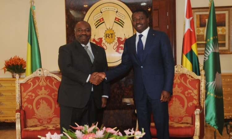 Les présidents Ali Bongo Ondimba du Gabon et Faure Gnassingbé du Togo - Lomé : Fin de la visite de travail et d'amitié du président Ali Bongo