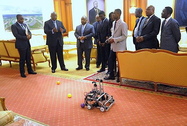 olympiades technologiques first global challenge les representants du gabon chez ali bongo - Olympiades technologiques First Global Challenge : Les représentants du Gabon chez Ali Bongo