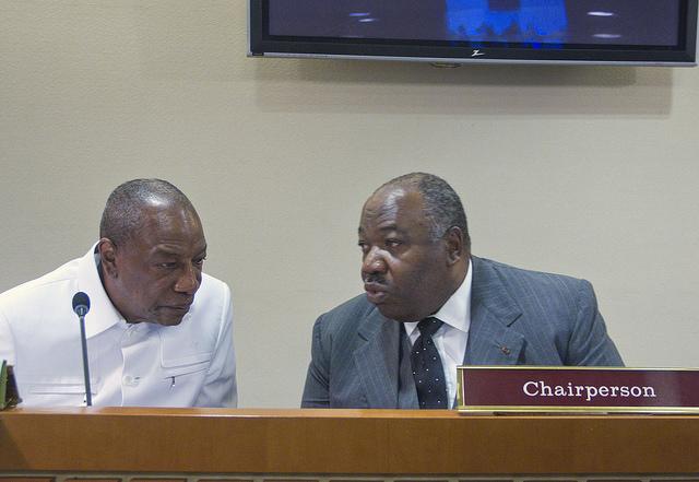 Le Chef de l27Etat et son homologue guinéen Alpha Condé - 72ème AG de l'ONU : Ali Bongo Ondimba a présidé la réunion du Bureau du CAHOSCC