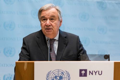 Antonio Guterres : «Notre sécurité est menacée, notamment par les armes nucléaires»