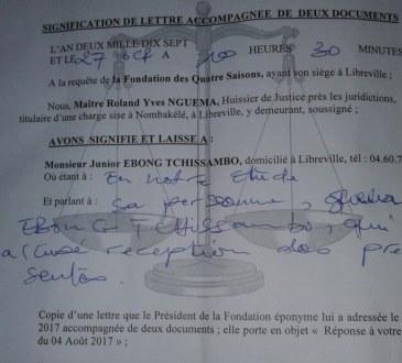 Gabon : Le fondateur de la Fondation des 4 Saisons, adresse un droit de réponse ...