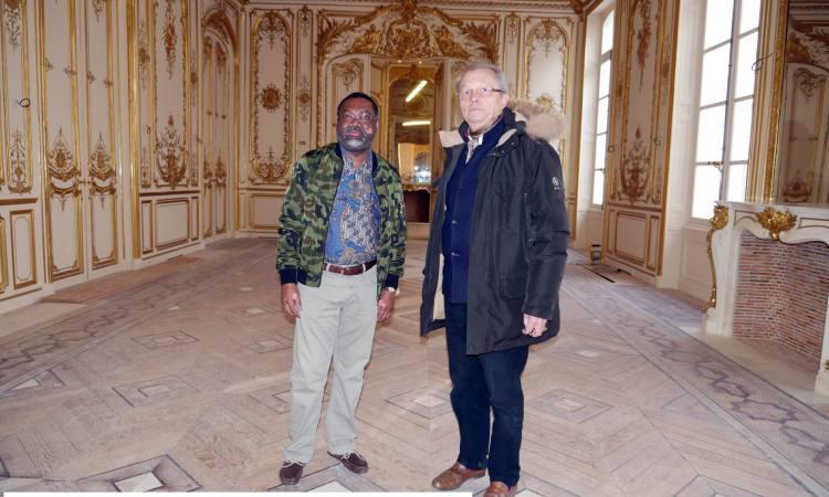 Hôtel particulier Pozzo di Borgo : L'Ambassadeur Flavien Enongoué fait le tour du propriétaire