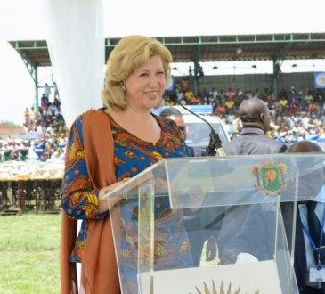 Mme Dominique Ouattara (Présidente de Children Of Africa) aux femmes du Denguelé :   # Votre courage et votre dynamisme sont exemplaires # (Présidence)