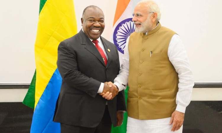 En marge du Sommet ISA : Ali bongo a eu des échanges avec M. Narendra Modi et Jean-Louis Chaussade