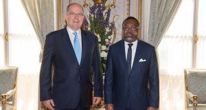 SEM Flavien Enongoué, Présentation des Lettres de créance á S.A.S. le Prince souverain Albert II de Monaco