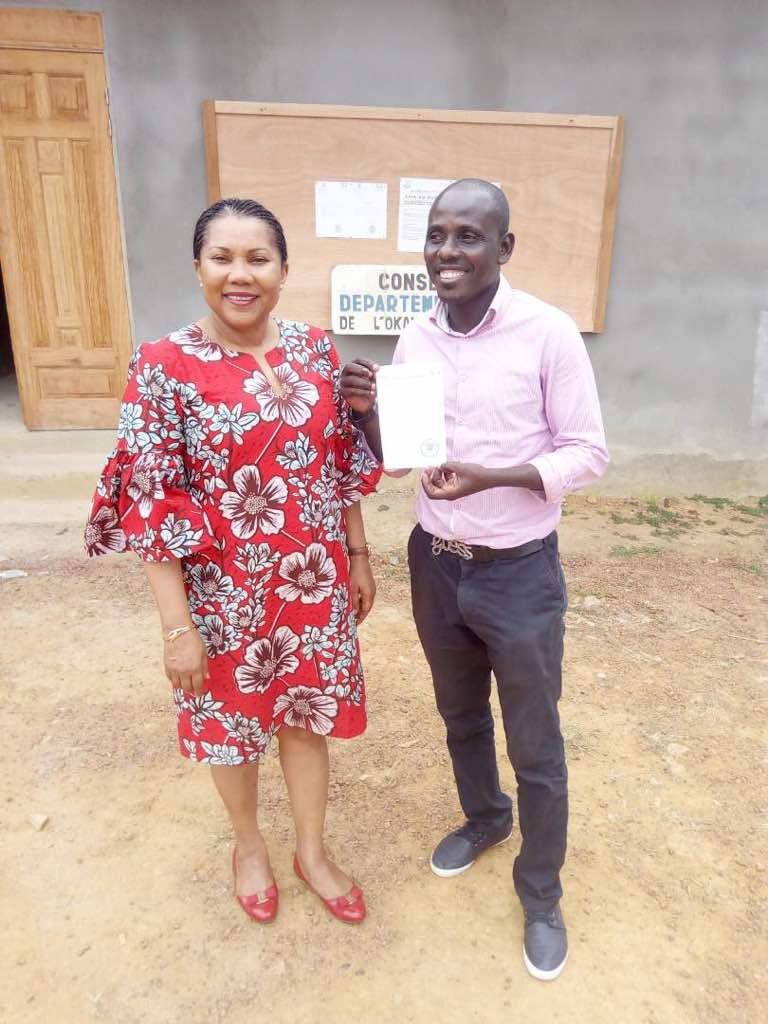 """3b0524dc cf3e 485f 9c82 e29378f716bd - Gabon : Inauguration de la nouvelle école de """"Sam"""" par Françoise ASSENGONE OBAME"""