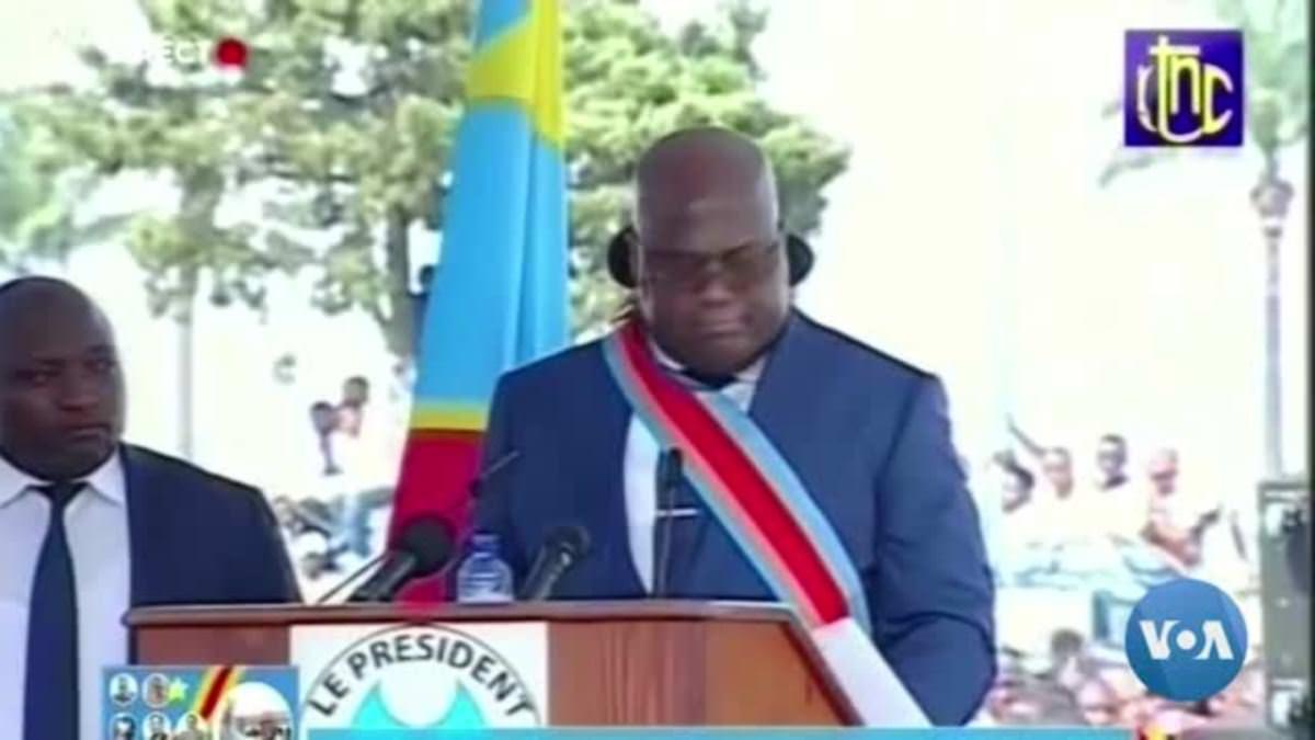 Malaise de Tshisekedi pendant son discours d'investiture