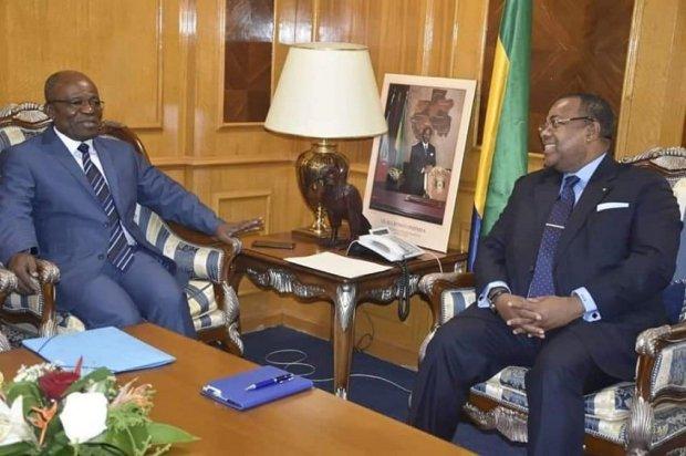 Julien Nkoghe Bekale et Faustin Boukoubi