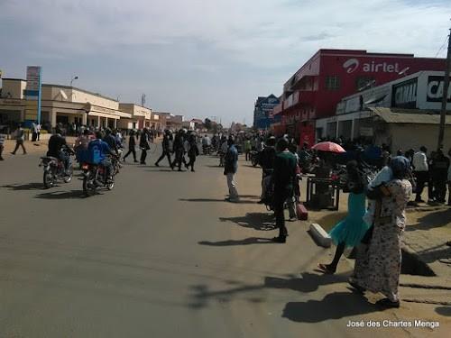 Bld de libération, principale artère de Bunia. Photo José des Chartes Menga, Radio Okapi/Ph.José des Chartes Menga