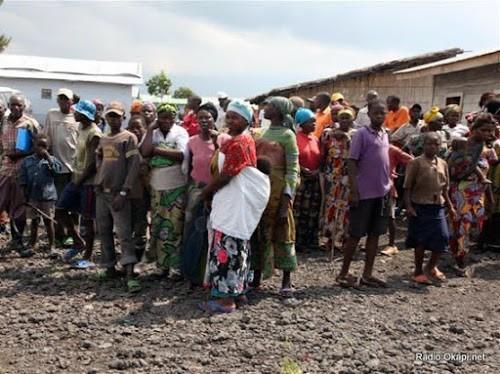 Des déplacés de Mugunga au Nord-Kivu, 24/02/2011.