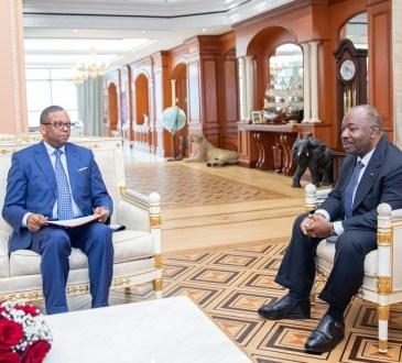 Gabon : Ali Bongo Ondimba devise avec Edgard Anicet Mboumbou Miyakou