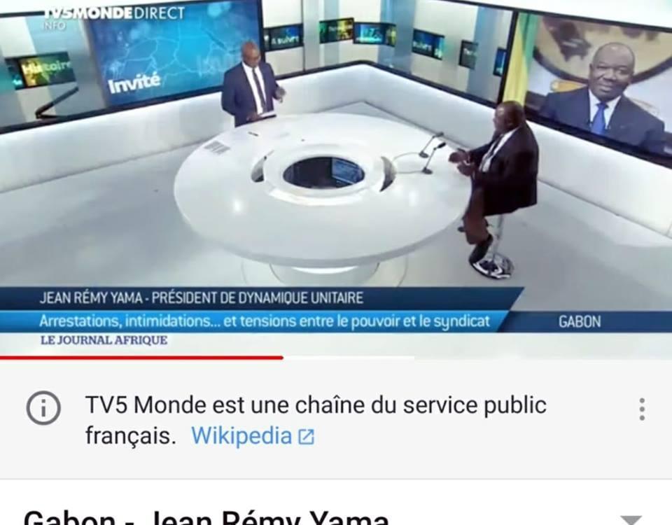 Gabon / YAMA Jean Remy - Imposture et mensonge : un hologramme sur le plateau de TV5MONDE