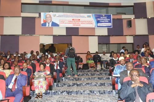 Ouverture du deuxième Forum sur la gratuité de l'enseignement en RDC le 22/08/2019 à Kinshasa. Radio Okapi/Photo John Bompengo