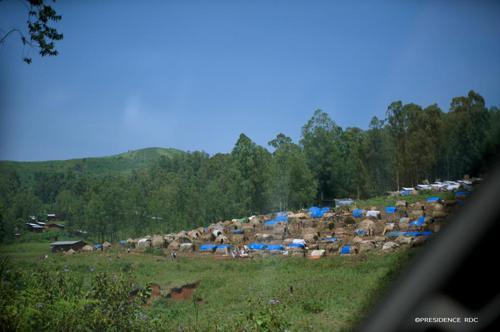 Un village du territoire de Djugu le 1er juillet 2019. Photo Présidence RDC.