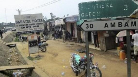 Kyé Ossi, ville camerounaise frontalière de la Guinée équatoriale