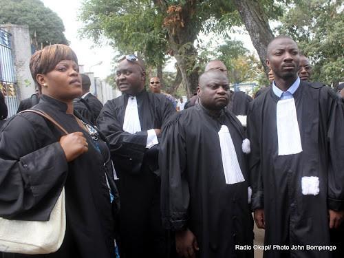 [Archives]Des magistrats, lors d'un sit-in devant la primature le 30/08/2011 à Kinshasa. Radio Okapi/ Ph. John Bompengo