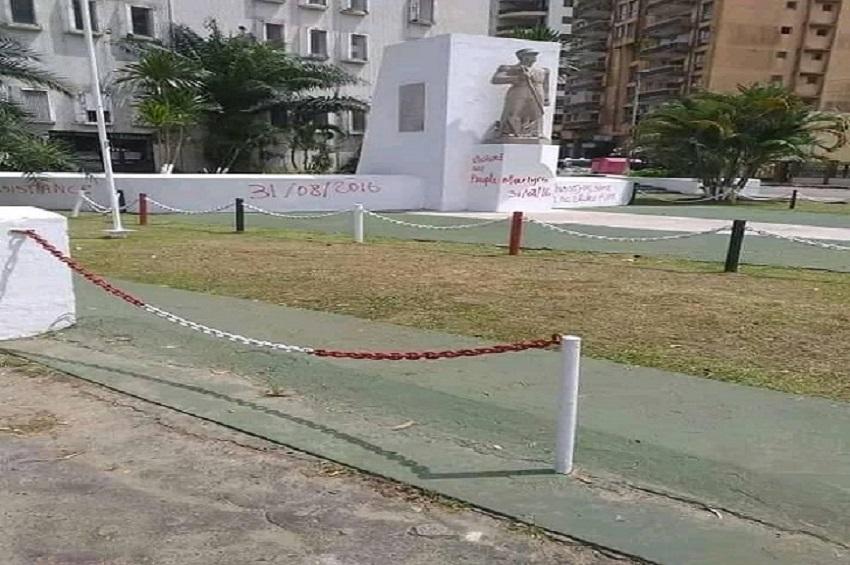 Gabon Qui a vandalise le monument du capitaine Charles - Gabon : Qui a vandalisé le monument du capitaine Charles Ntchoréré ?