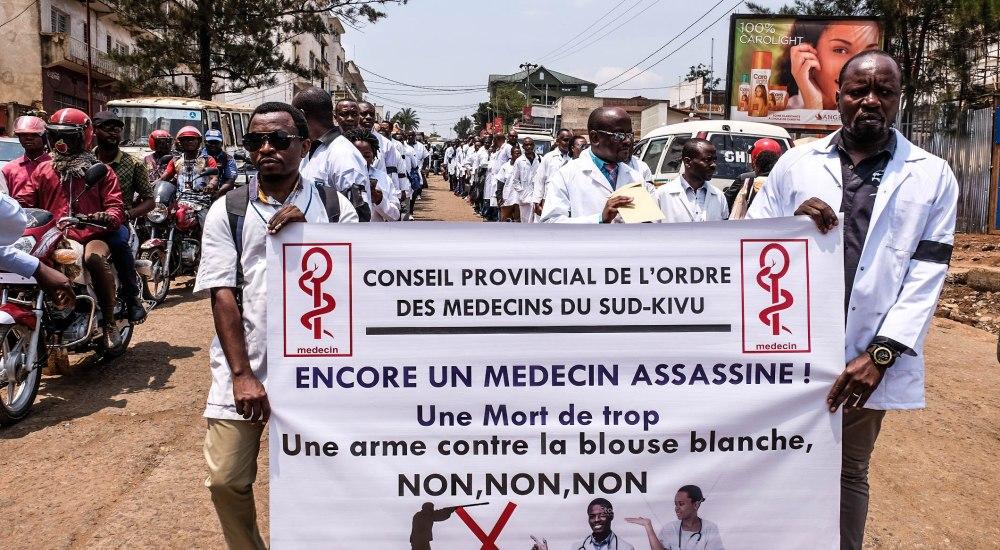 Sud-Kivu : une marche des médecins pour protester contre les assassinats dont ils sont victimes
