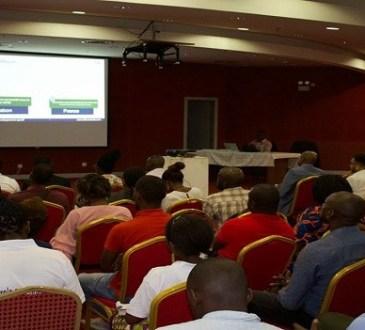 Rémy Ebanega satisfait de l'organisation du premier salon du sport au Gabon
