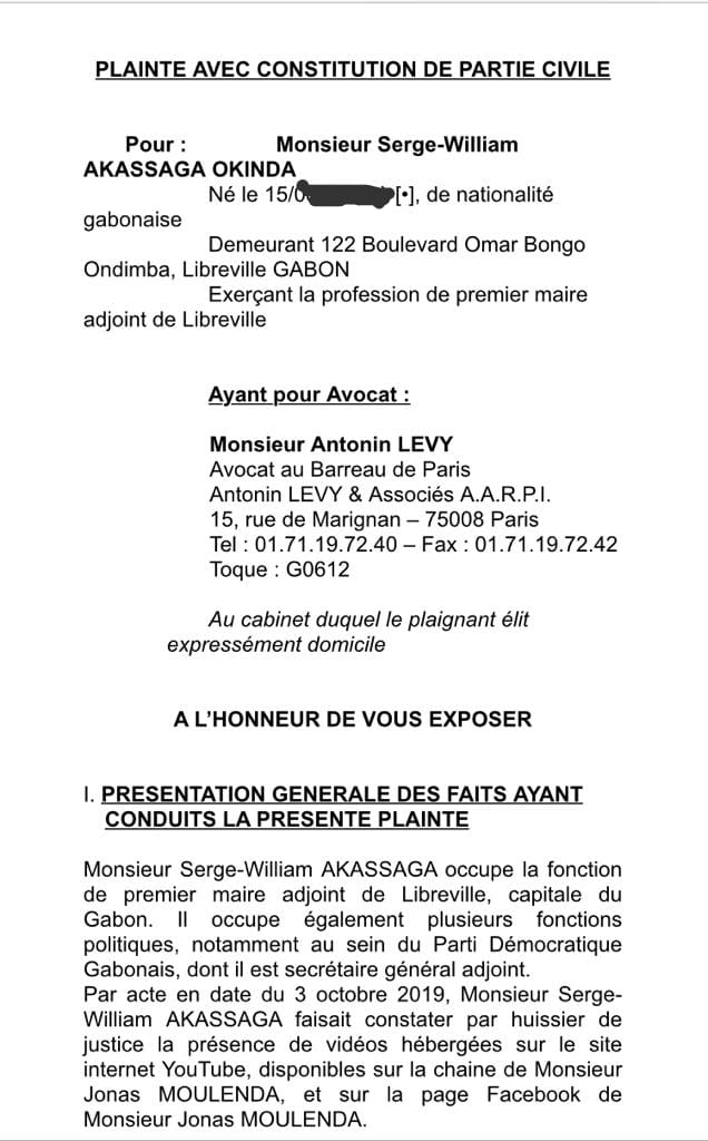 WhatsApp Image 2020 03 28 at 05.05.12 - GABON & FRANCE : Plainte de Serge-Williams Akassaga Okinda contre Jonas Moulenda