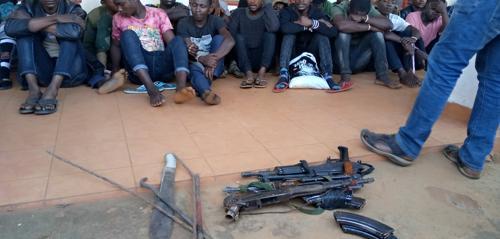 Butembo : 30 présumés bandits présentés au public