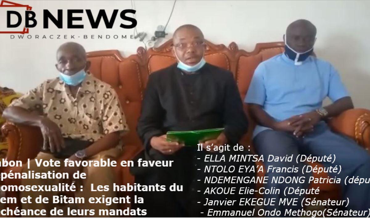 DEMISSION DES ELUS - Gabon | Dépénalisation de l'homosexualité : Les habitants du Ntem et de Bitam exigent la déchéance de leurs mandats