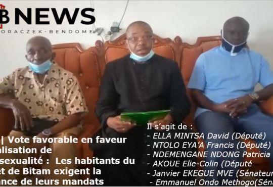 Gabon | Dépénalisation de l'homosexualité : Les habitants du Ntem et de Bitam exigent la déchéance de leurs mandats