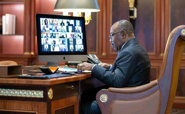 Ali Bongo visio - Communiqué final du Conseil des ministres du 19 février 2021