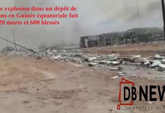 8 mars 2021 Fond Noir 2048x1152 Pixels 1 - Une énorme explosion dans un dépôt de munitions en Guinée équatoriale fait 20 morts et 600 blessés
