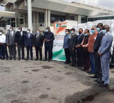 Lutte contre la COVID 19 La Cote d8217Ivoire receptionne 50 000 - Lutte contre la COVID-19: La Côte d'Ivoire réceptionne 50 000 doses de Vaccin AstraZeneca  du gouvernement Indien