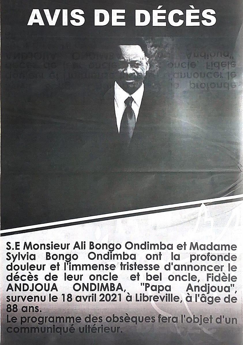 20 WhatsApp Image 2021 04 20 at 14.02.12 - Gabon : programme des Obsèques de Feu Fidèle Andjoua Ondimba