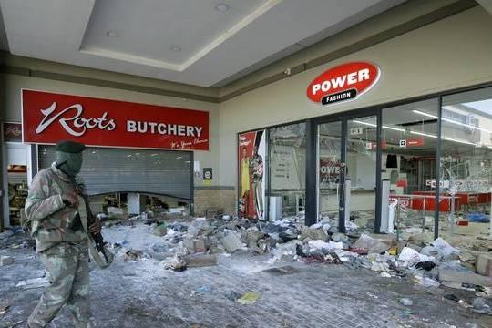 Afriquedu Sud: les violences ont touché plus de 40.000 commerces