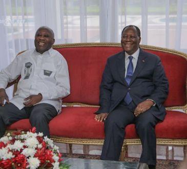 Le Chef de l'Etat a eu un entretien avec l'ancien Président Laurent GBAGBO