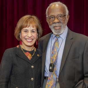 President Carol Folt and Theodore Lumpkin, Jr.
