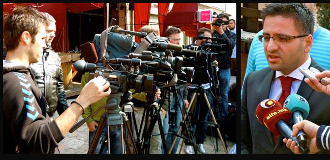 Le Ministre de l'Economie de la République de Macédoine interviewé par de nombreux médias