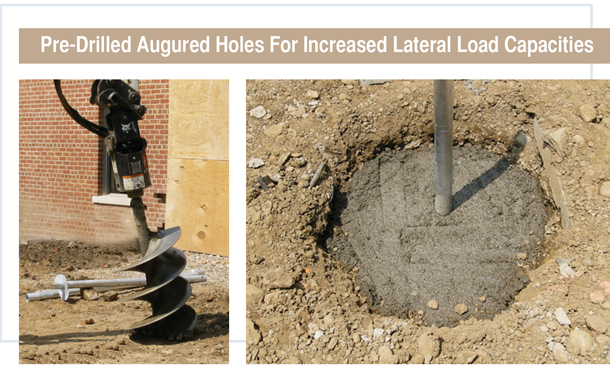 Pre-Drilled Augured Holes and Helical Pier Solutions