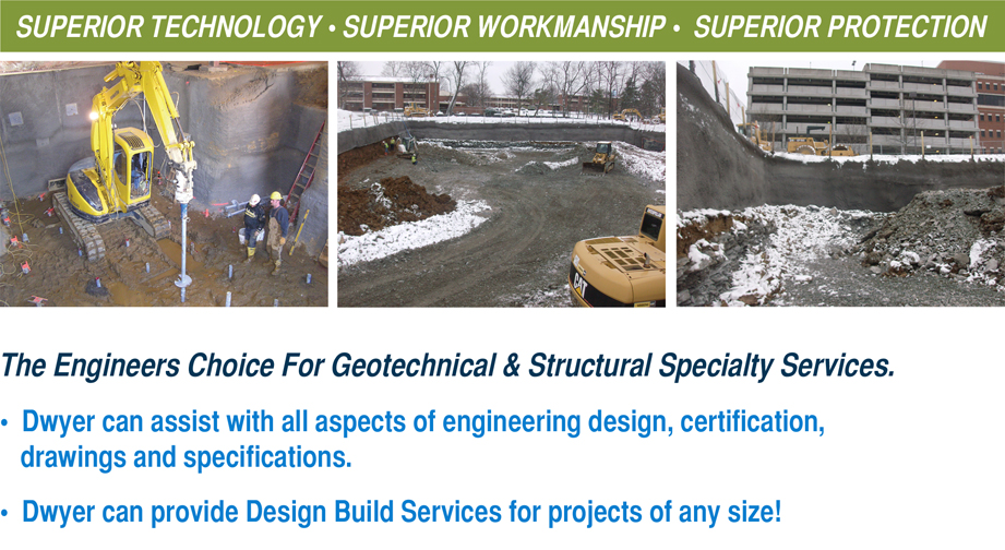 Dwyer's shoring and underpinning projects.