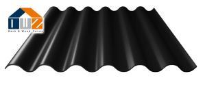 Faserzement Wellplatte Profil 6 Schwarz