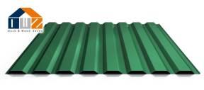 Trapezblech Wand Laubgrün