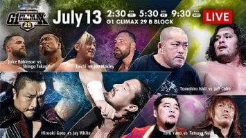 NJPW G1 Climax 29 13-07-2019 Day2