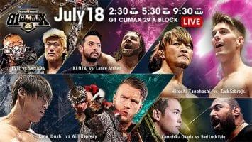 NJPW G1 Climax 29 18 07 2019 Day 4