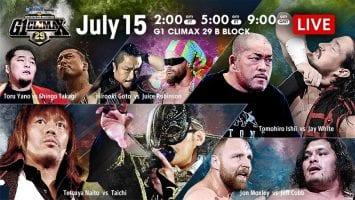 NJPW G1 Climax 29 -2019 Day 4
