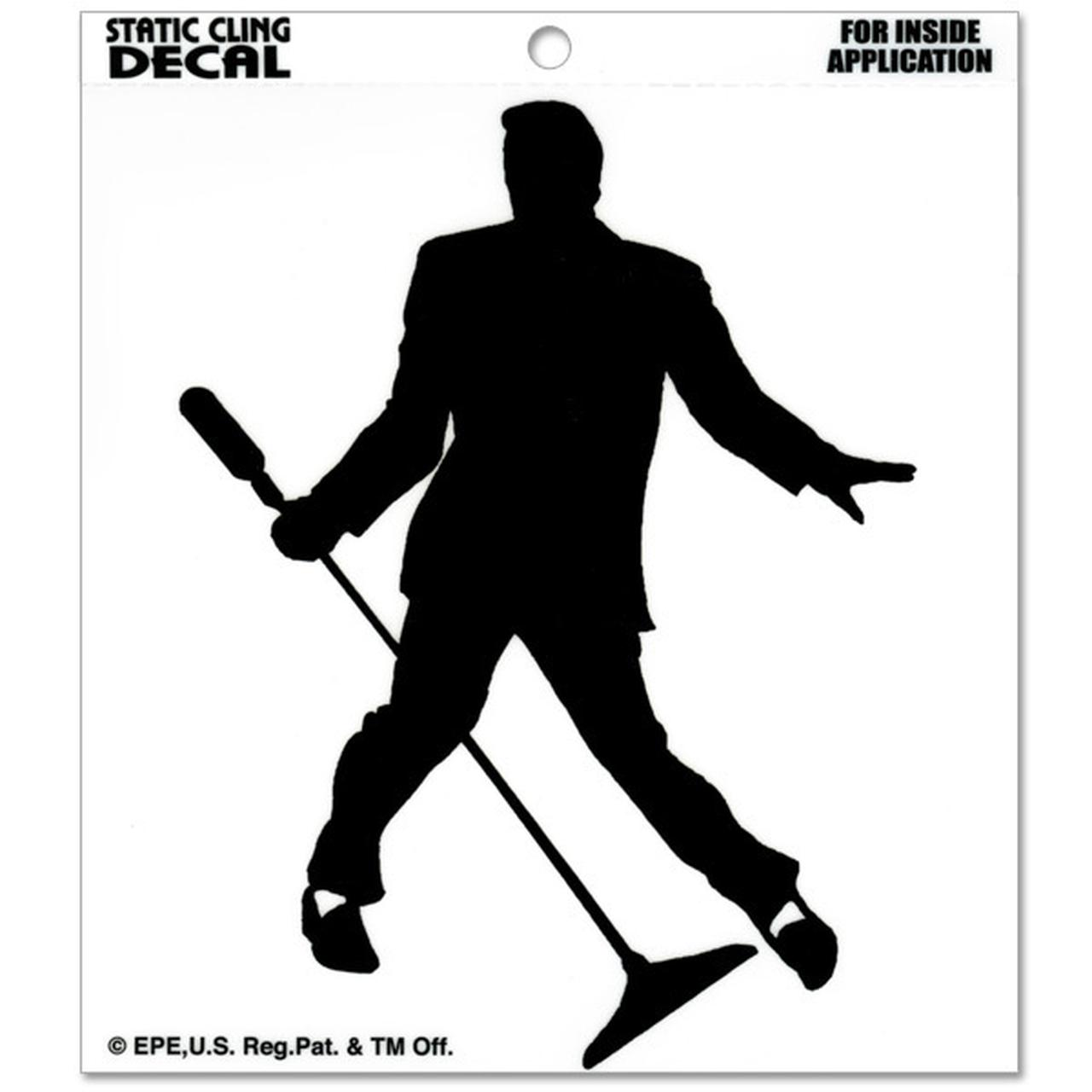 Elvis Silhouette Static Cling Decal