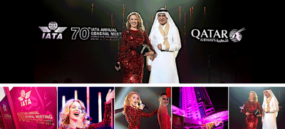 Qatar Airways featuring Kylie Minogue at 70th IATA Annual General Meeting