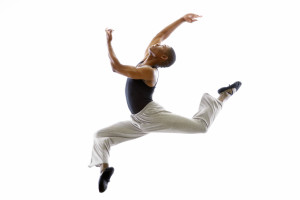 Ballet Dancer Mid-air in Jump