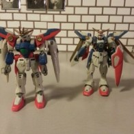 "Wing Gundam Zero XXXG-00W0 and Wing Gundam XXXG-01W Bandai America MSIA Toonami Cartoon Network release 4.5"" robot from anime Mobile Suit Gundam Wing Endless Waltz(新機動戦記ガンダムW: Endless Waltz - Shin Kidou Senki Gundam Wing Endless Waltz or 新新機動戰記鋼彈W 無盡的華爾滋) 1997"