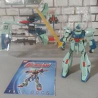 Gundam RGZ-91 Re-GZ(Refined Gundam Zeta リ·ガズィ ri gazi) & Back Weapon System Deluxe Edition Bandai 2001 Item #11653 from anime Kidou Senshi Gundam: Gyakushuu no Char(機動戦士ガンダム 逆襲のシャア) 1988