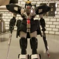 "Shadow Gundam GF13-021NG aka Gundam Spiegel(ガンダムシュピーゲルを) 2000 Bandai America 7.5"" Item #11366 from anime (機動武闘伝Gガンダム)Kidou Butouden G Gundam 1994-1995 representing Neo Germany piloted by Schwarz Bruder(シュバルツ・ブルーダー Shubarutsu Burūdā)"
